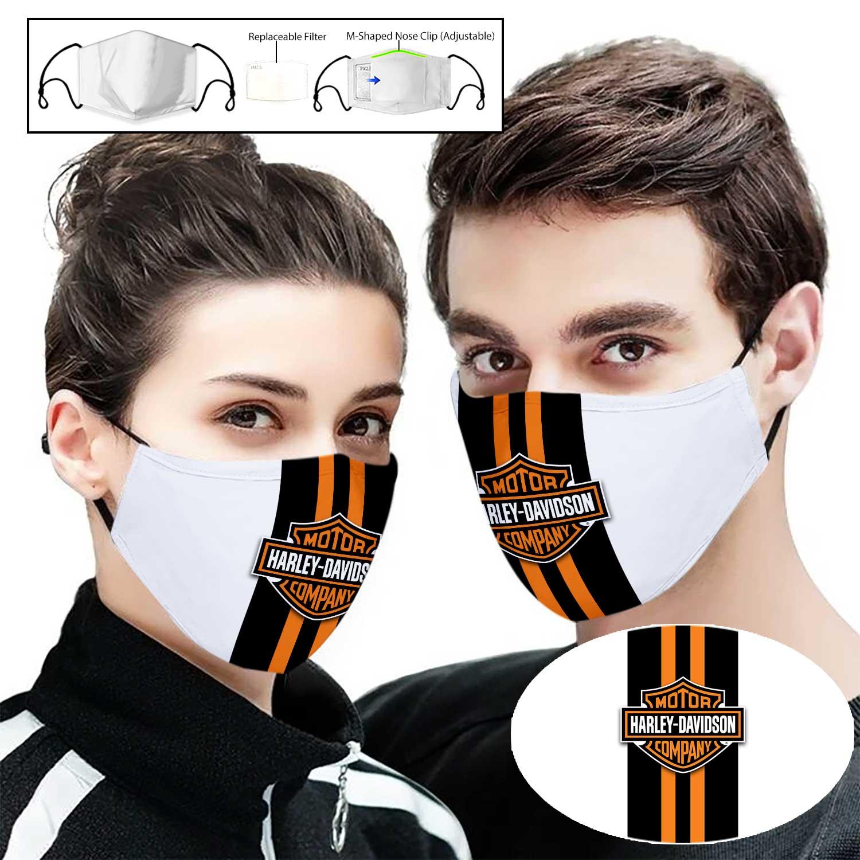 Harley-davidson motor company full printing face mask 1
