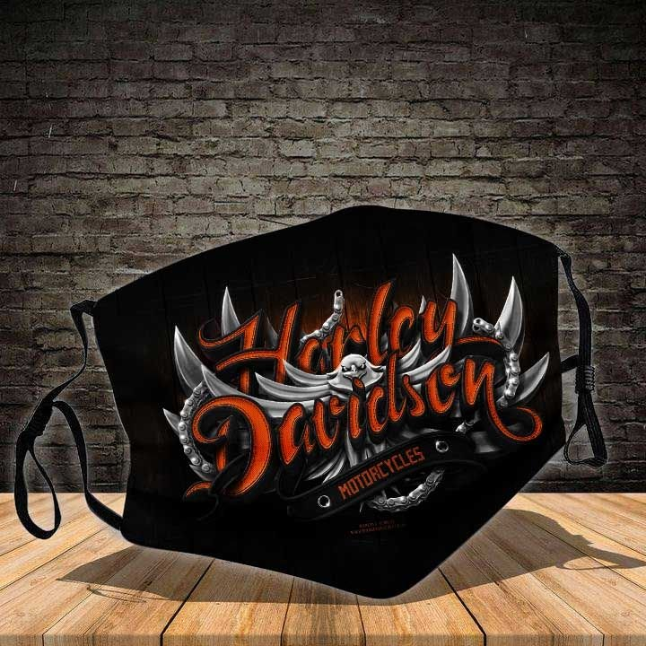 Harley-davidson motorcycle good way all over printed face mask 3