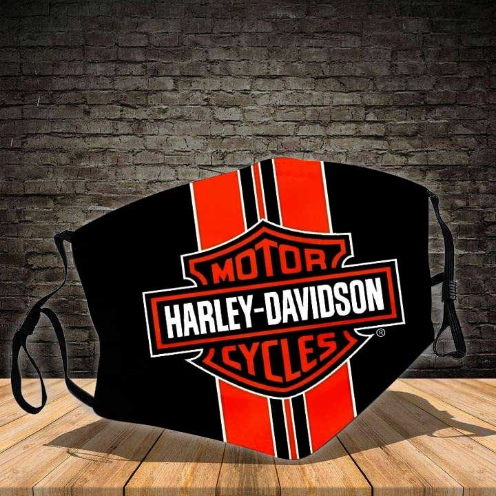 Harley-davidson motorcycle symbol all over printed face mask 2