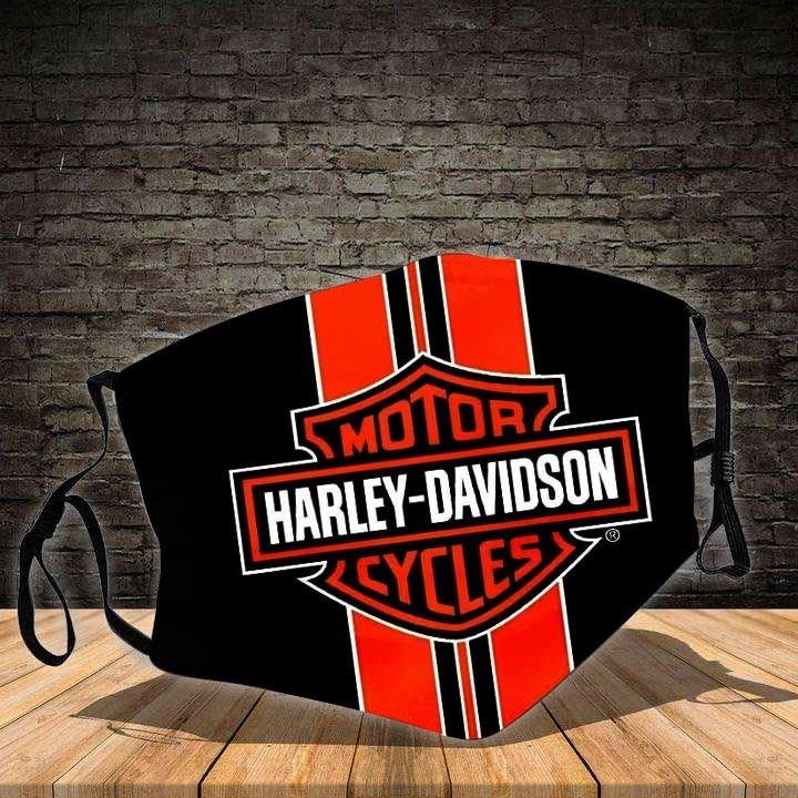 Harley-davidson motorcycle symbol all over printed face mask 4