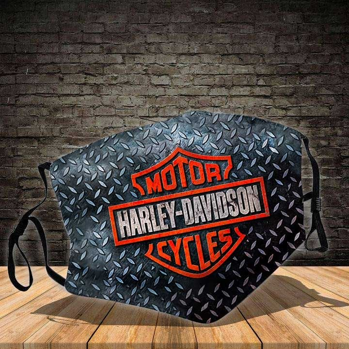 Harley-davidson motorcycles the only way all over printed face mask 2