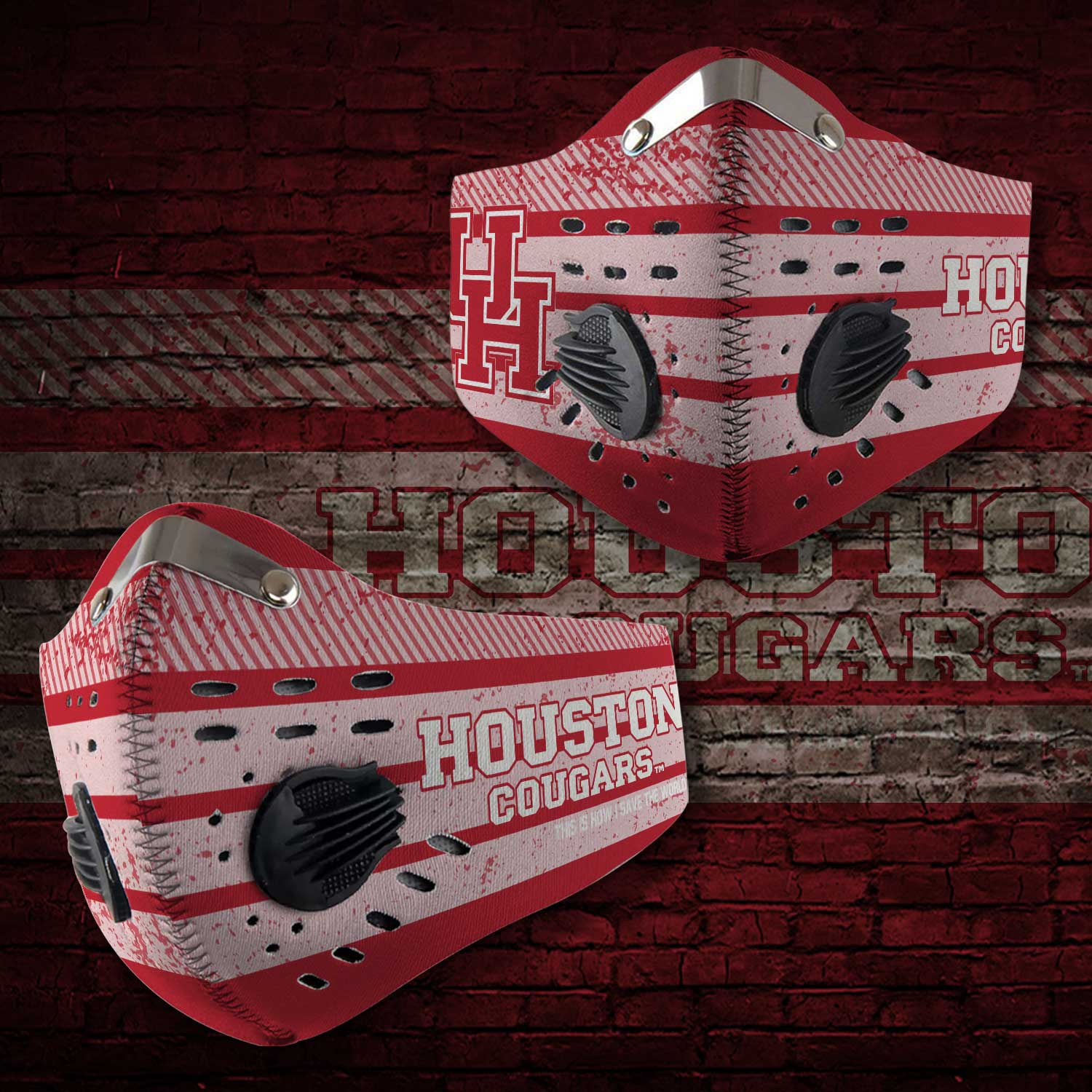 Houston cougars football this is how i save the world face mask 2