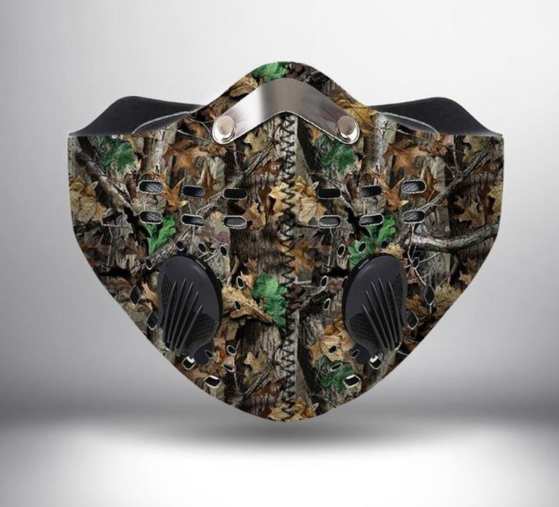 Hunting camo anti pollution filter activated carbon face mask 2