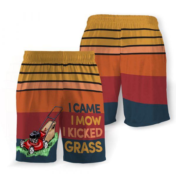 I came i mow i kicked grass hawaiian shorts 1