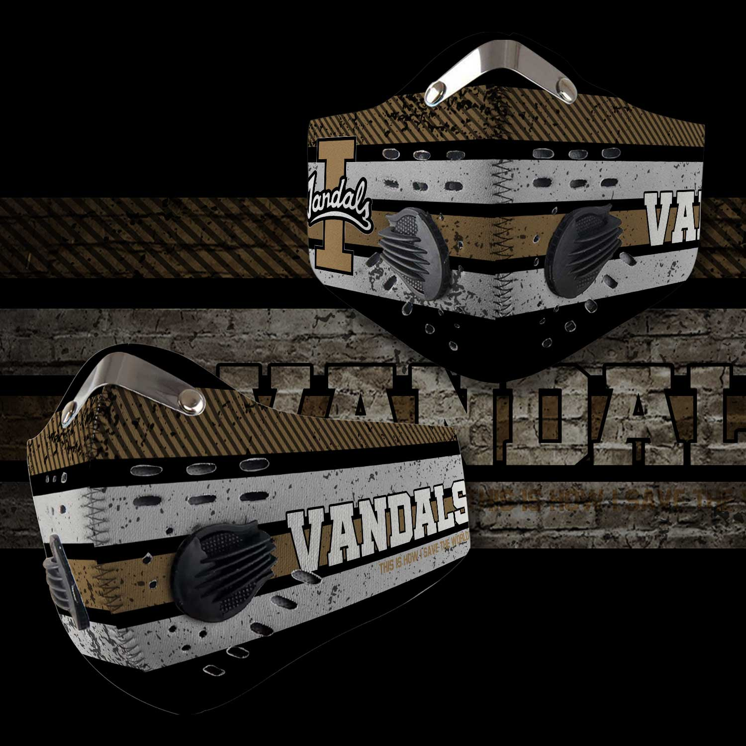 Idaho vandals football this is how i save the world face mask 1
