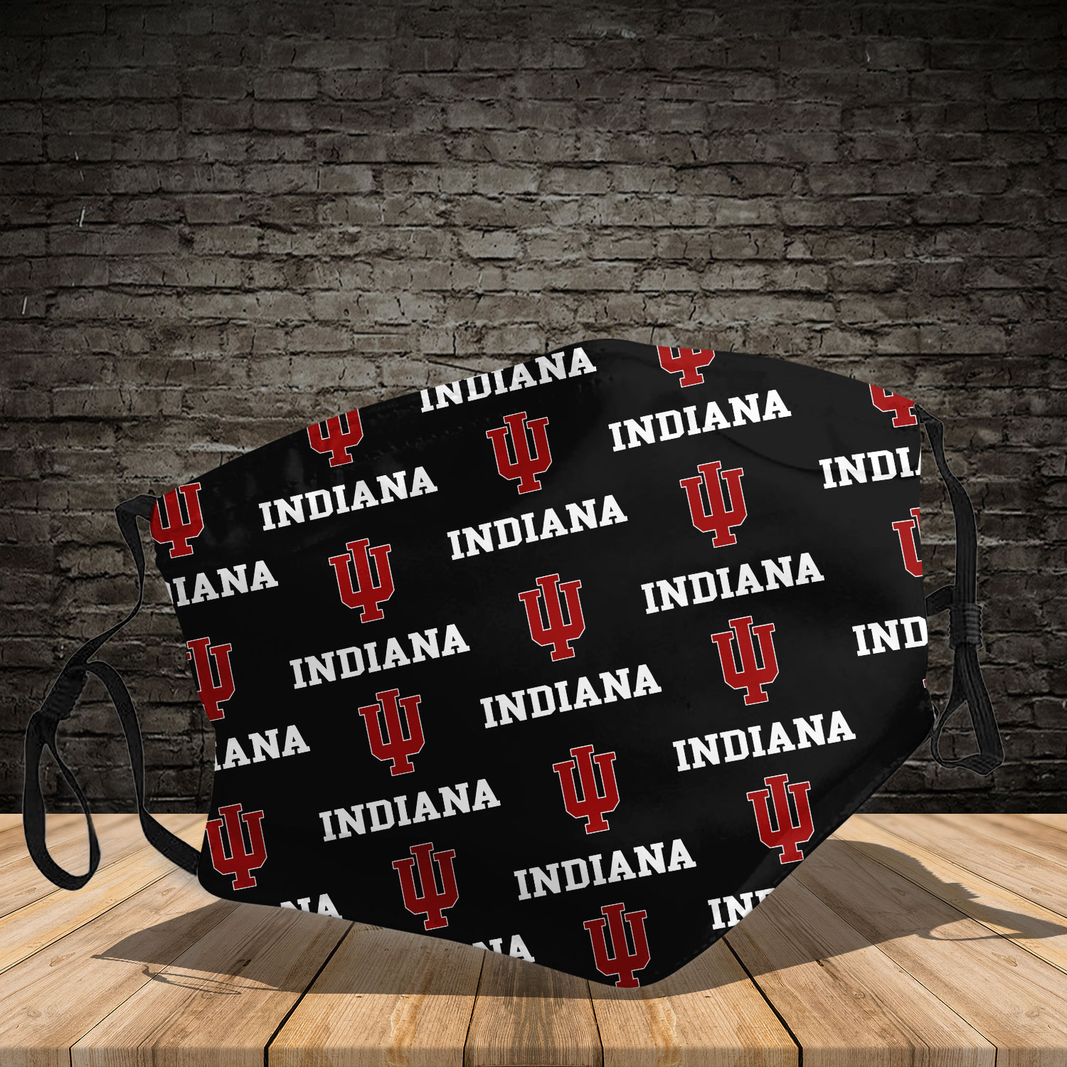 Indiana hoosiers men's basketball full printing face mask 3