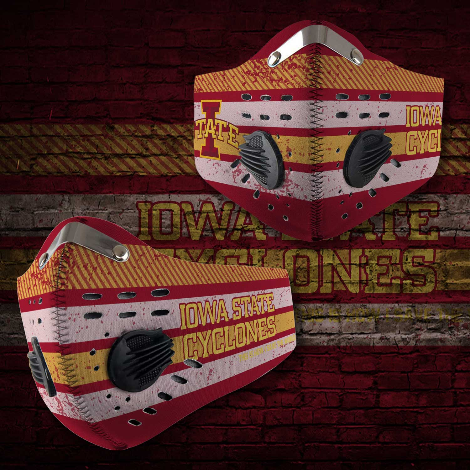Iowa state cyclones football this is how i save the world face mask 2