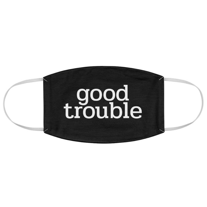 John lewis themed good trouble all over printed face mask 4