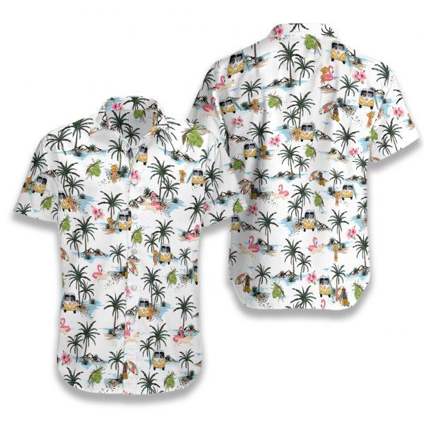 Labrador hawaii hawaiian shirt 2