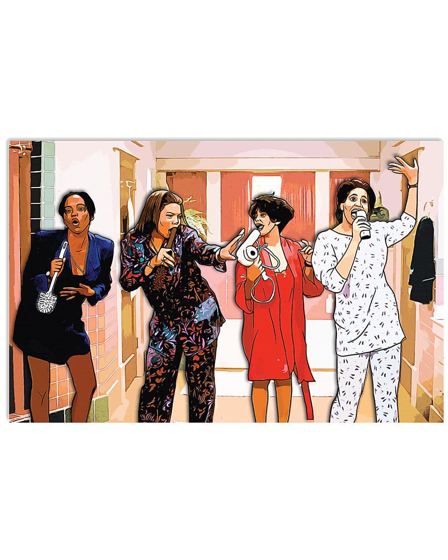 Living single tv series cartoon poster 1
