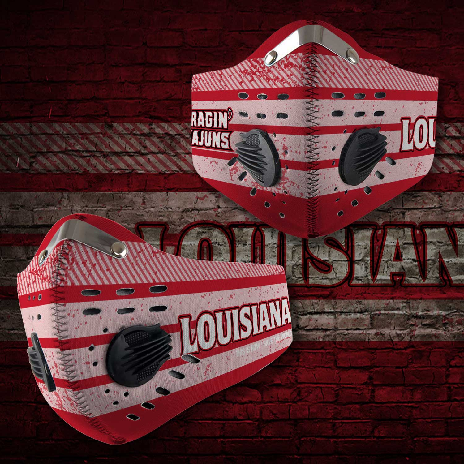 Louisiana ragin cajuns this is how i save the world face mask 1