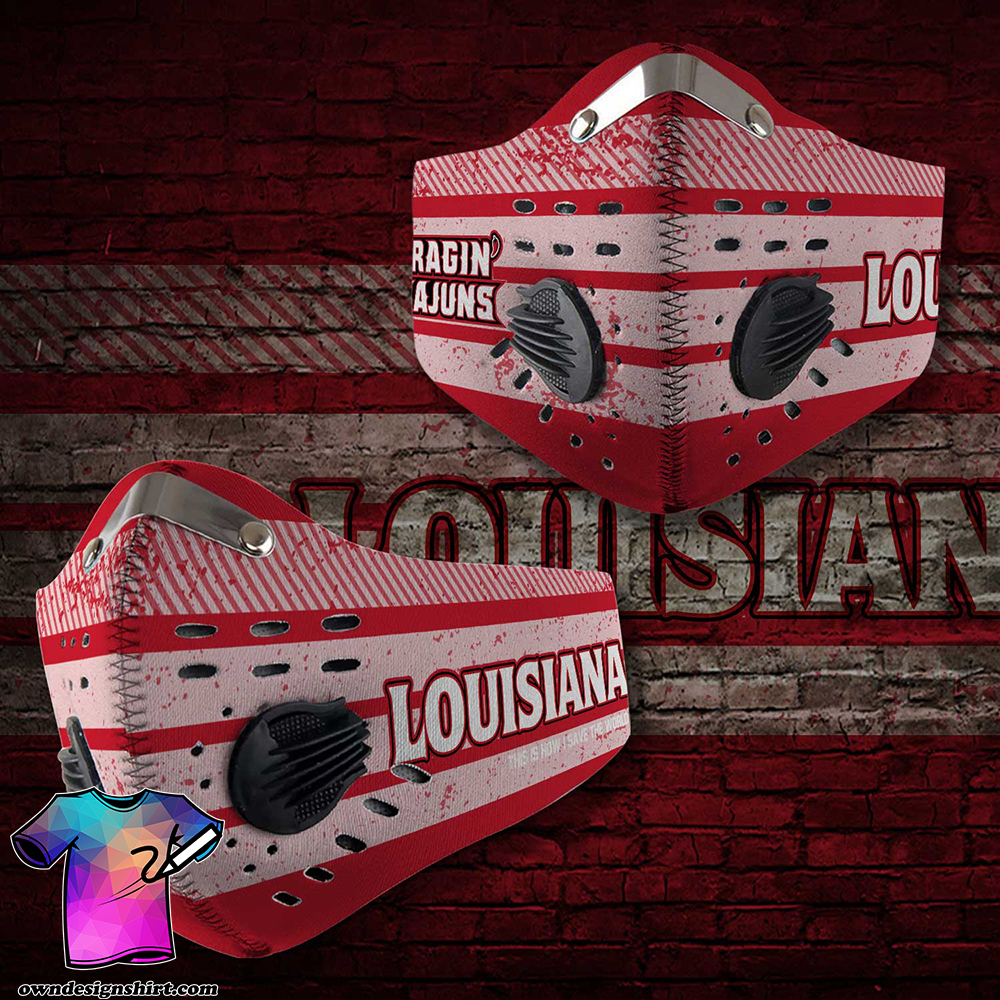 Louisiana ragin cajuns this is how i save the world face mask