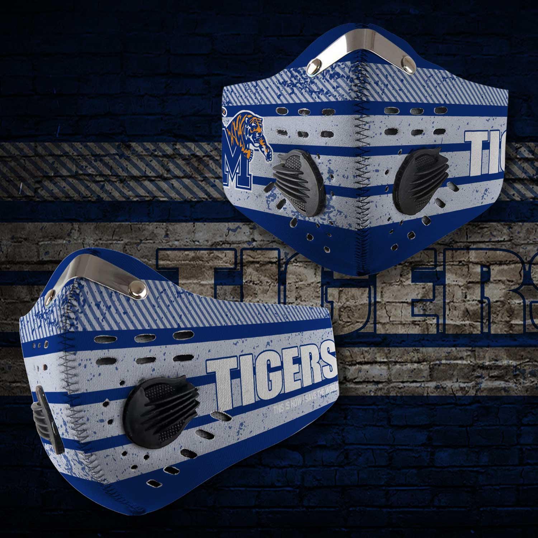 Memphis tigers football carbon filter face mask 2