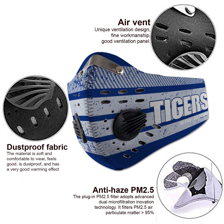 Memphis tigers football carbon filter face mask 4