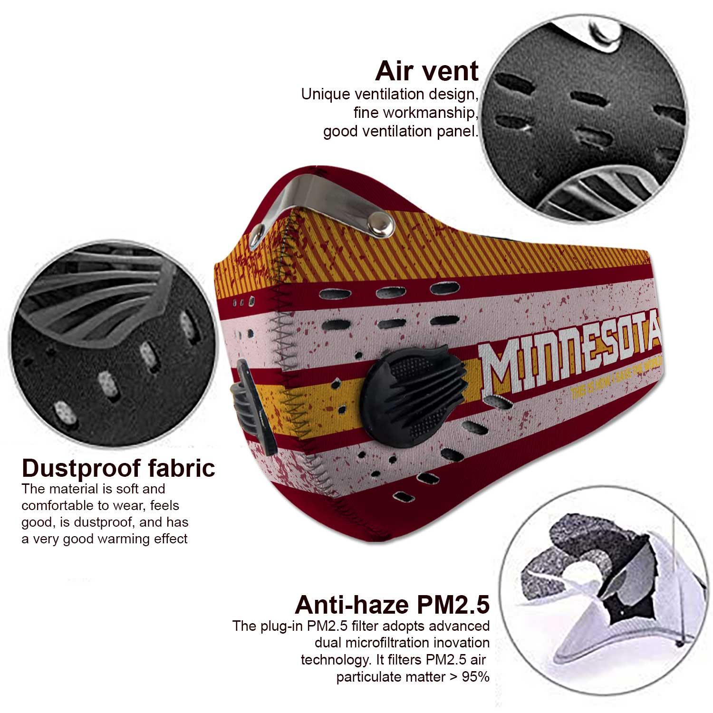 Minnesota golden gophers football carbon filter face mask 3