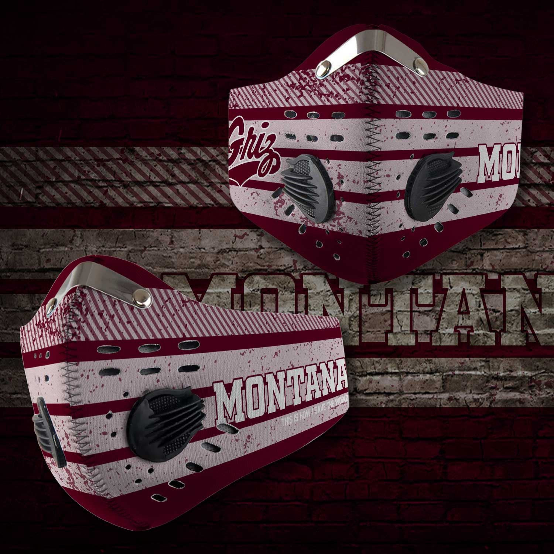 Montana grizzlies football carbon filter face mask 2