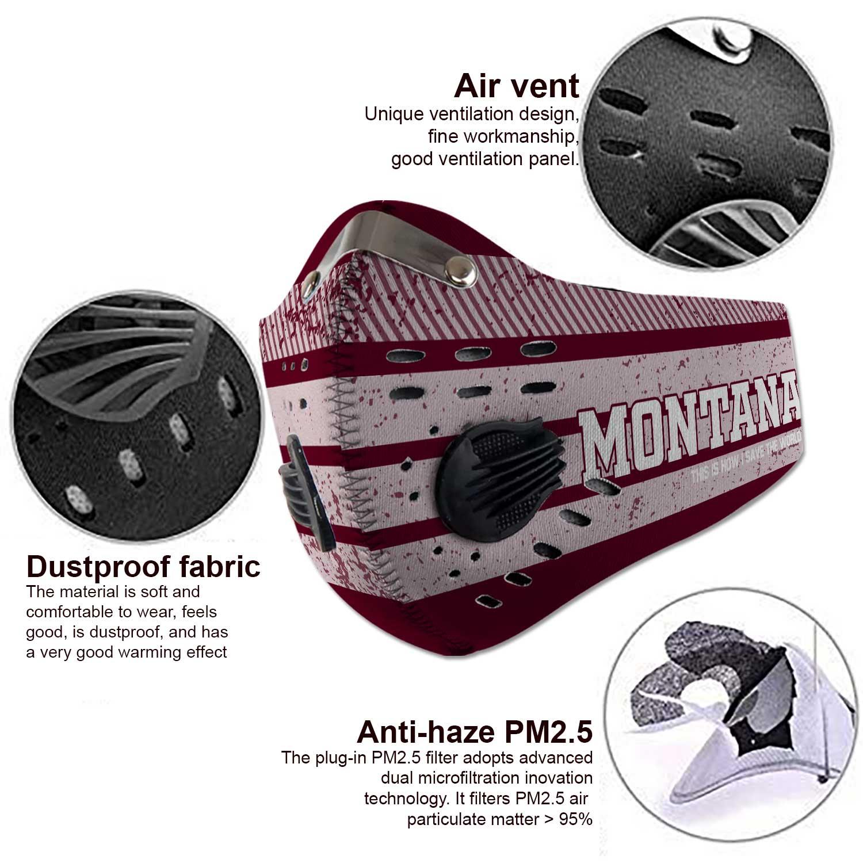Montana grizzlies football carbon filter face mask 3