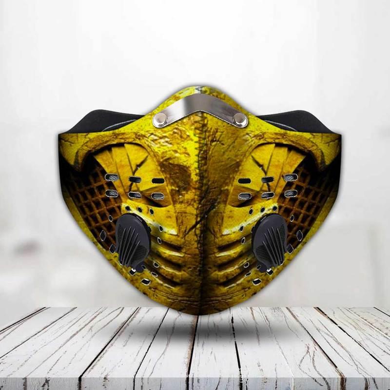 Mortal kombat scorpion filter activated carbon face mask 2
