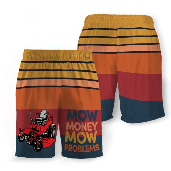 Mow money mow problems hawaiian shorts 3