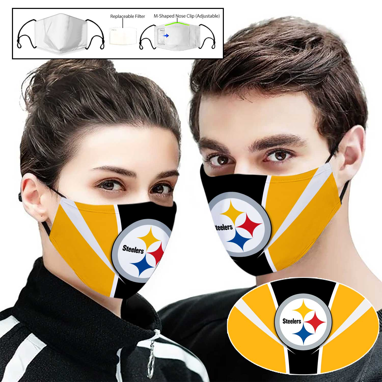 NFL pittsburgh steelers full printing face mask 2
