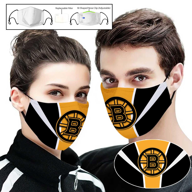 NHL boston bruins team full printing face mask 1