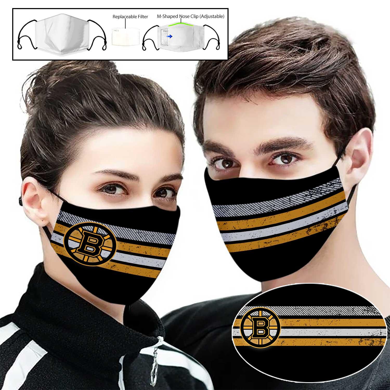 National hockey league boston bruins full printing face mask 1