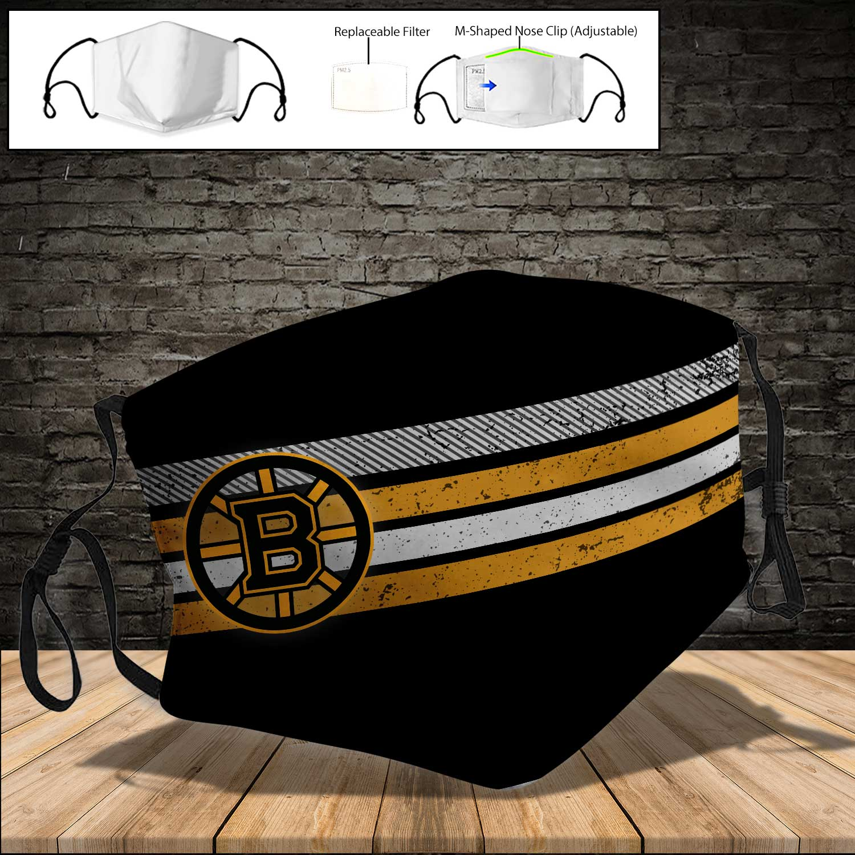 National hockey league boston bruins full printing face mask 3