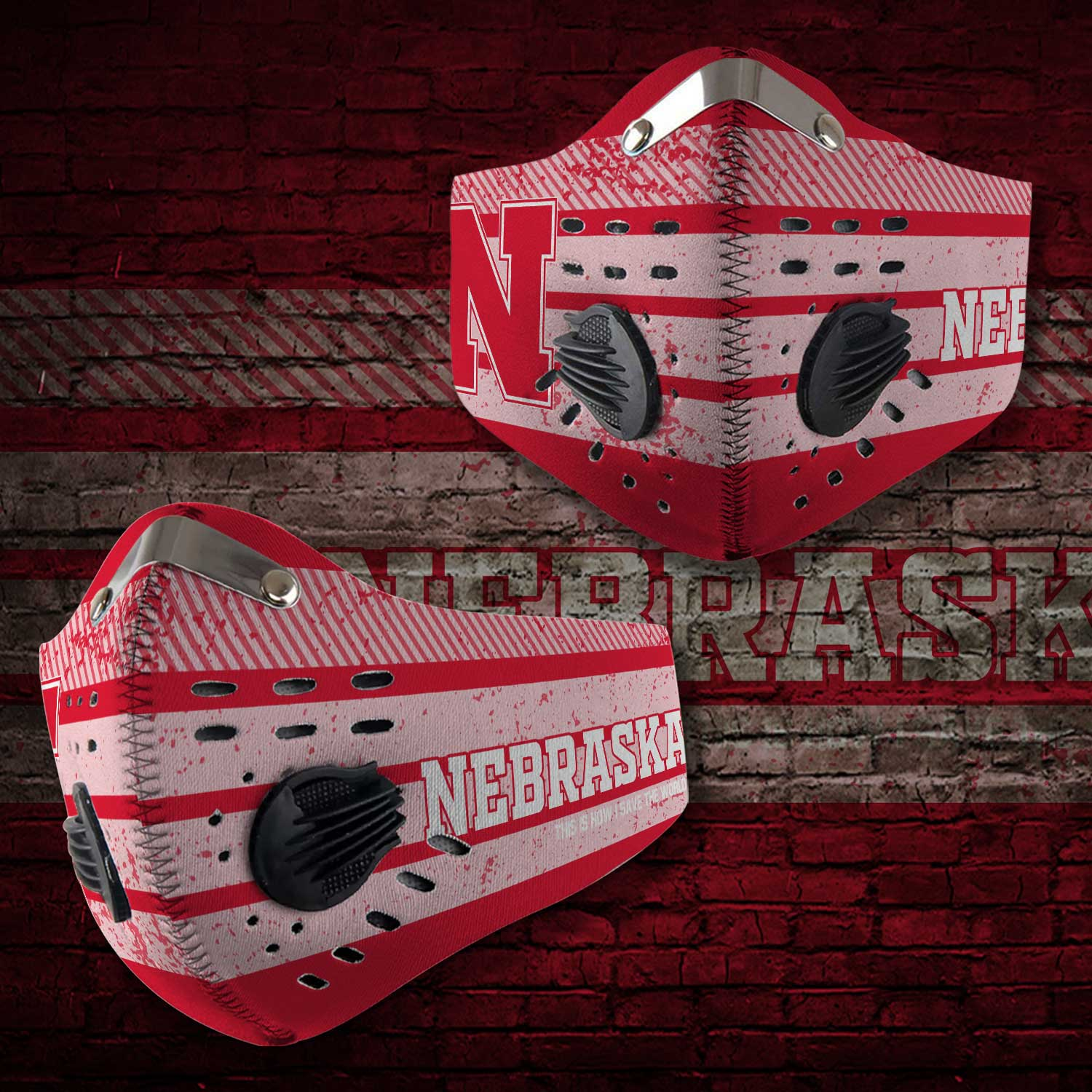 Nebraska cornhuskers this is how i save the world carbon filter face mask 2