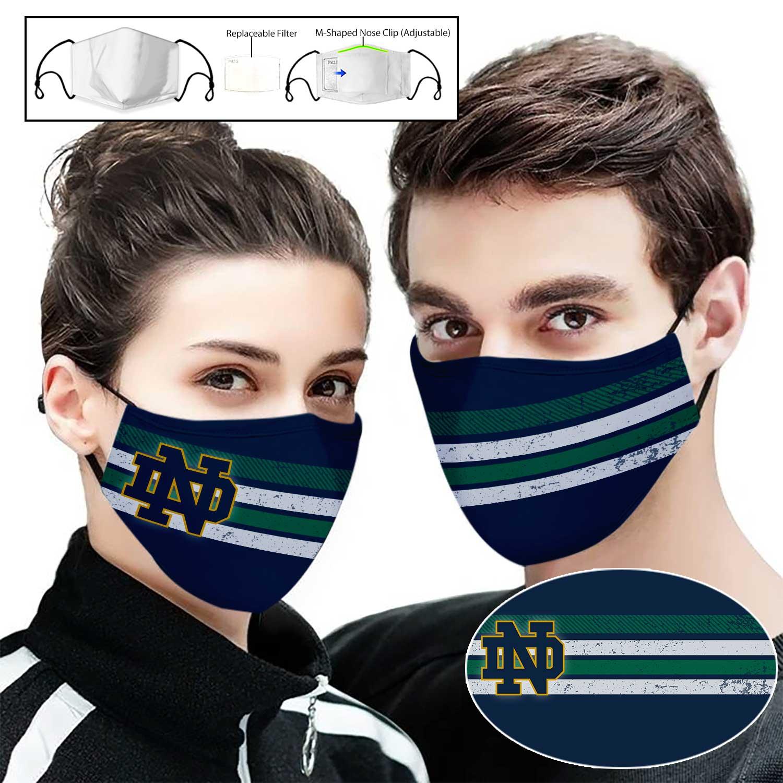 Notre dame fighting irish football full printing face mask 1