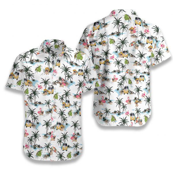 Pug hawaii hawaiian shirt 1