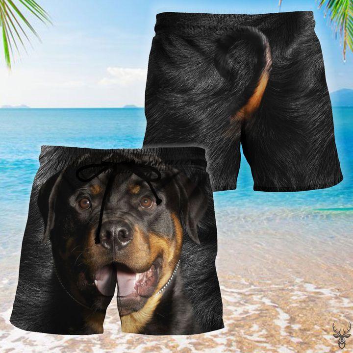Rottweiler dog hawaiian shorts 1