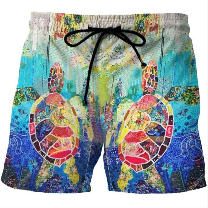 Save the turtle hawaiian shorts 3
