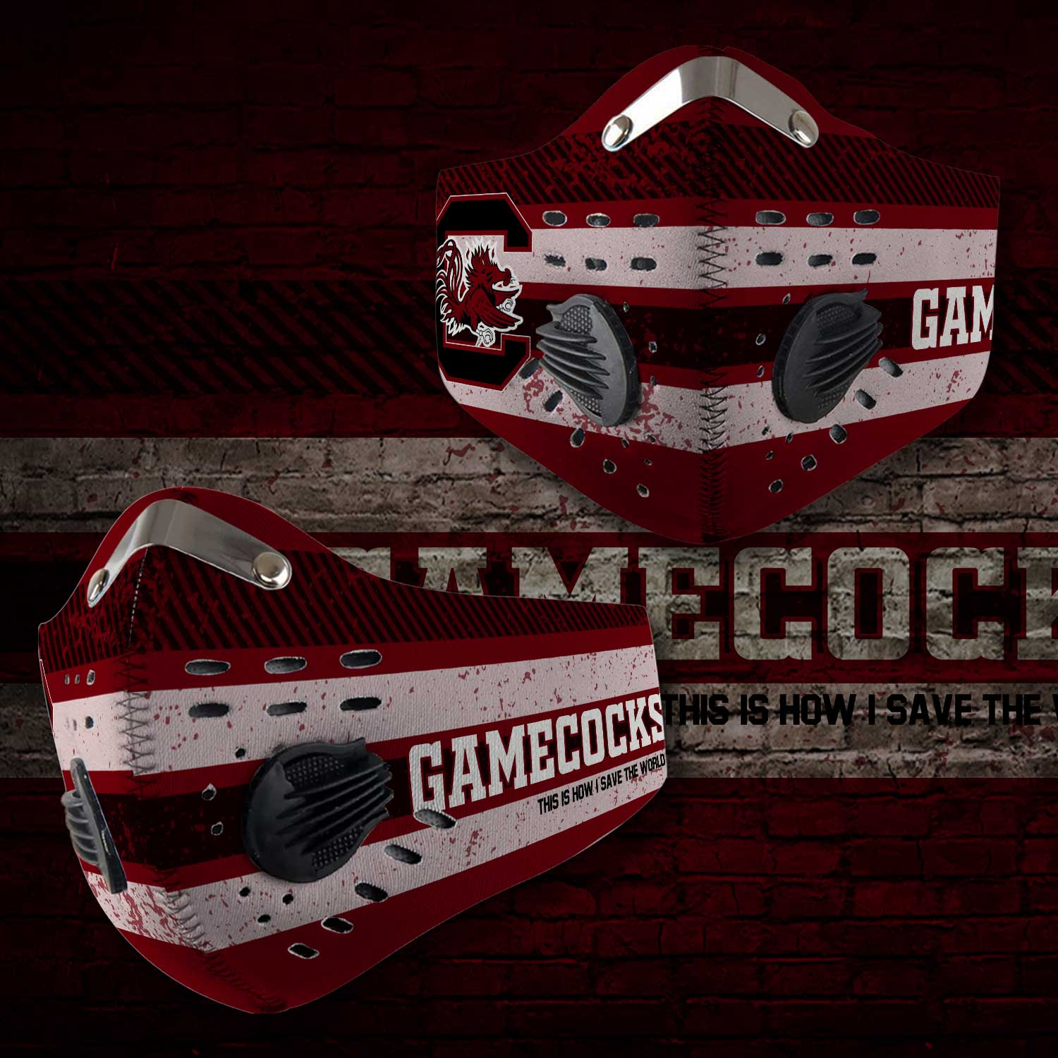 South carolina gamecocks this is how i save the world face mask 2