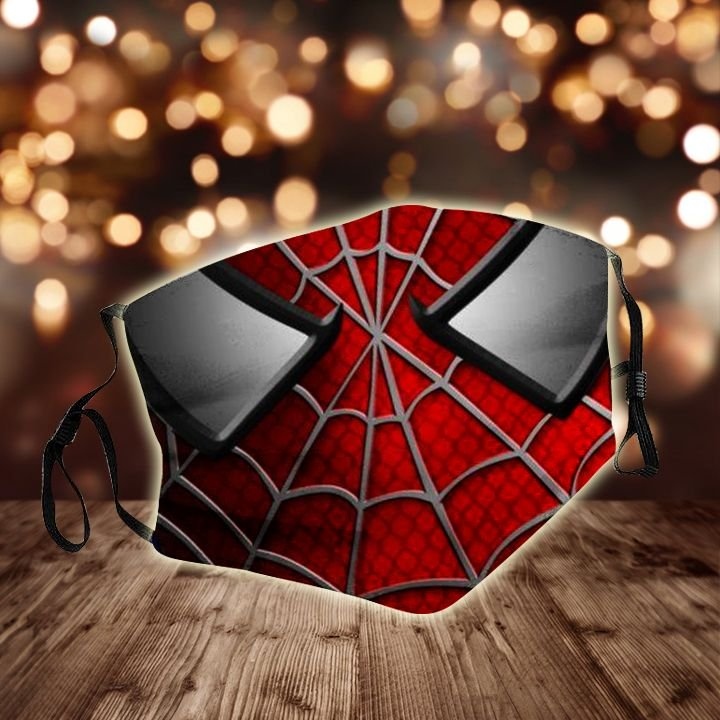 Spider-man face all over printed face mask 1