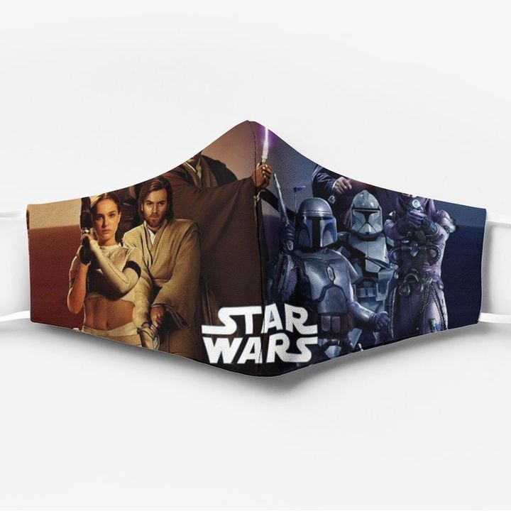 Star wars poster all over printed face mask 1