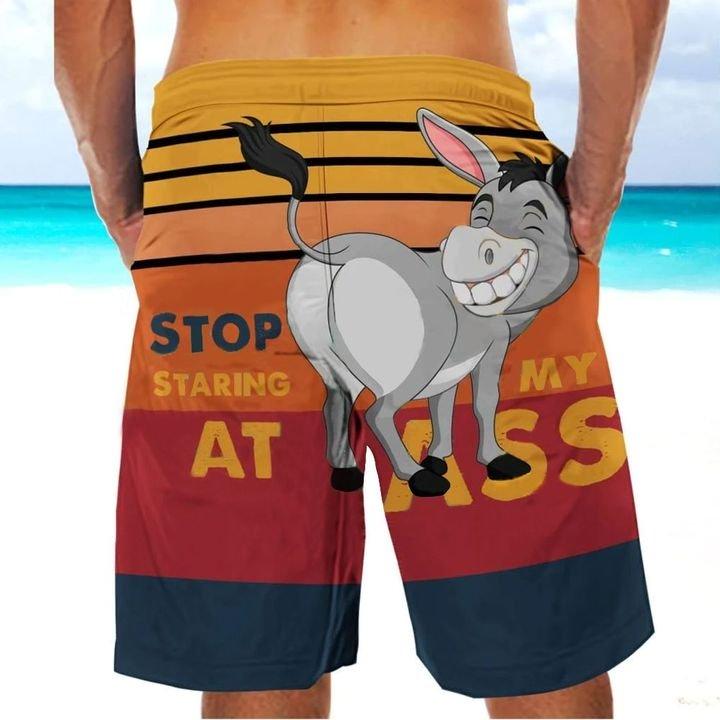Stop staring at my ass donkey hawaiian shorts 1