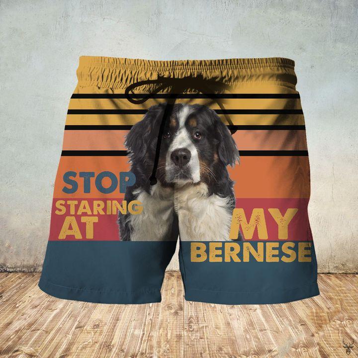 Stop staring at my bernese hawaiian shorts 1