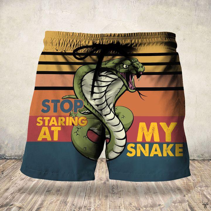 Stop staring at my snake hawaiian shorts 1