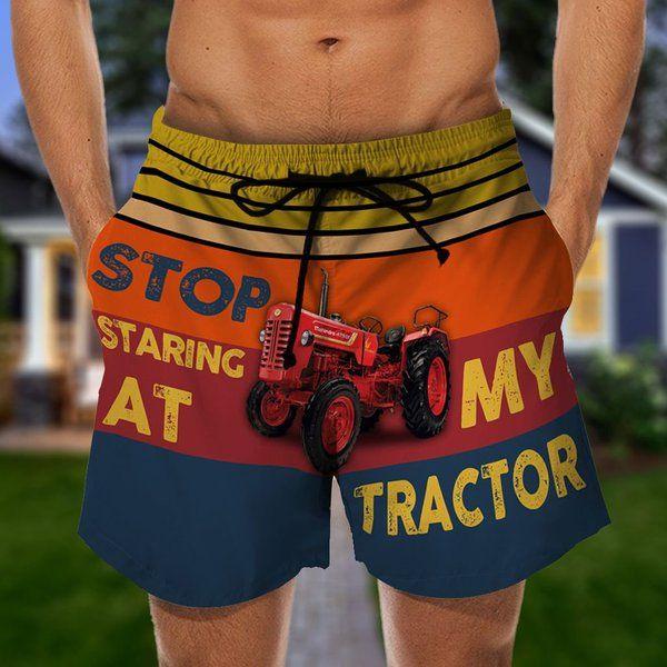 Stop staring at my tractor hawaiian shorts 1