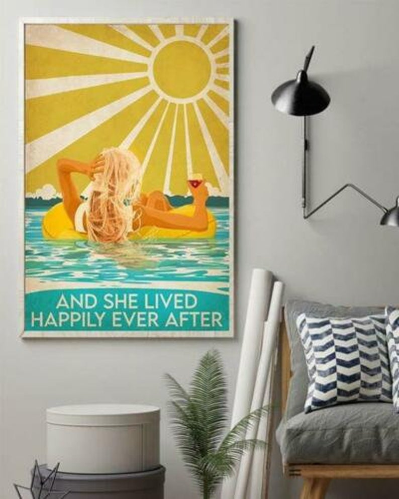 Swimming and she lived happily ever after poster 1