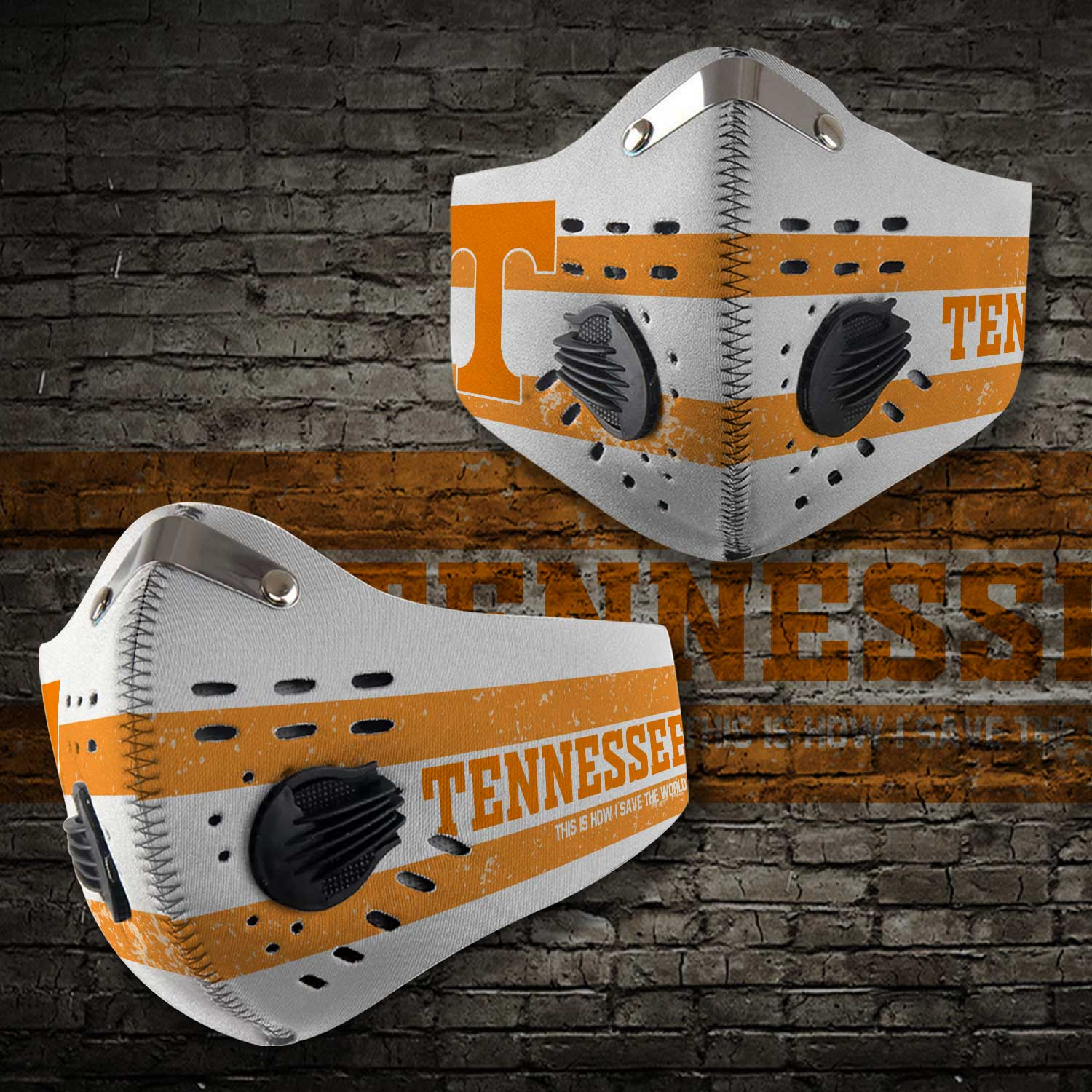 Tennessee volunteers this is how i save the world face mask 2