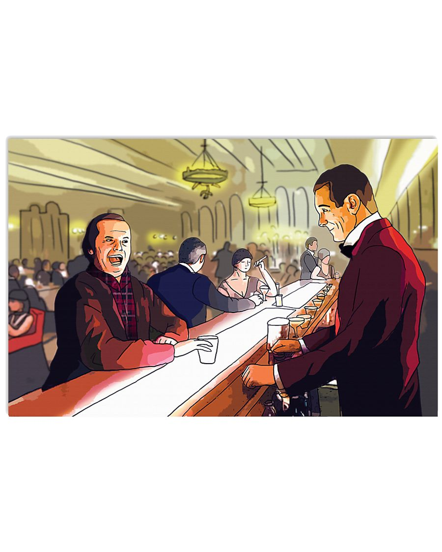 The shining jack torrance and lloyd cartoon poster 2