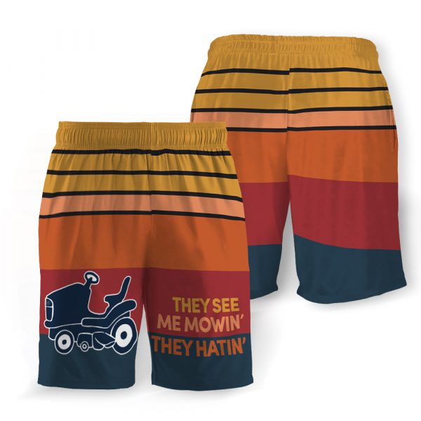 They see me mowin' they hatin' hawaiian shorts 3