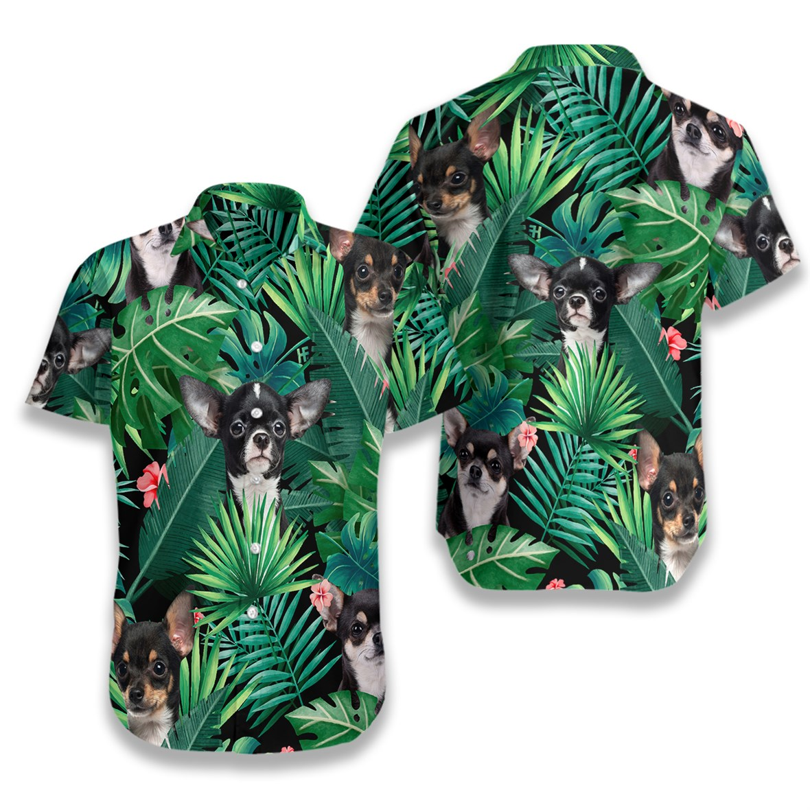Tropical chihuahua hawaiian shirt 4