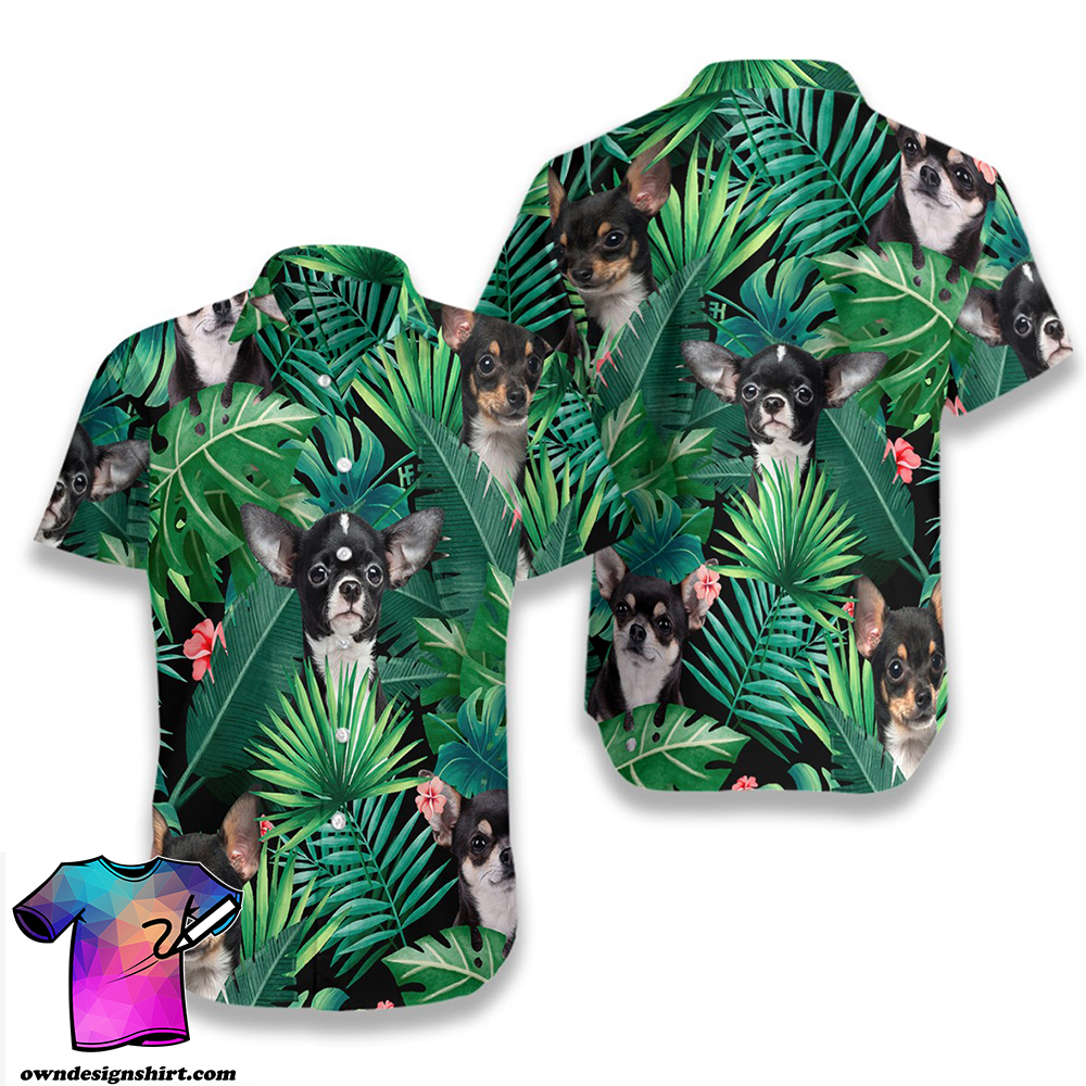 Tropical chihuahua hawaiian shirt