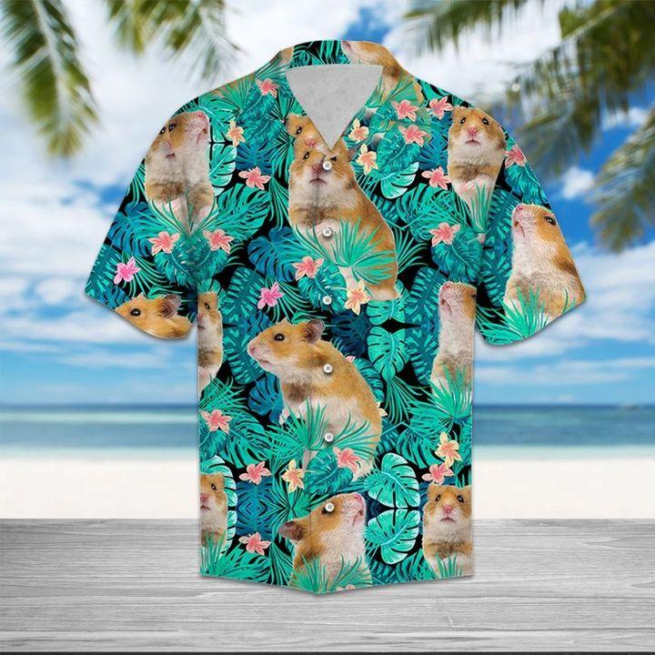 Tropical hamster hawaiian shirt 1