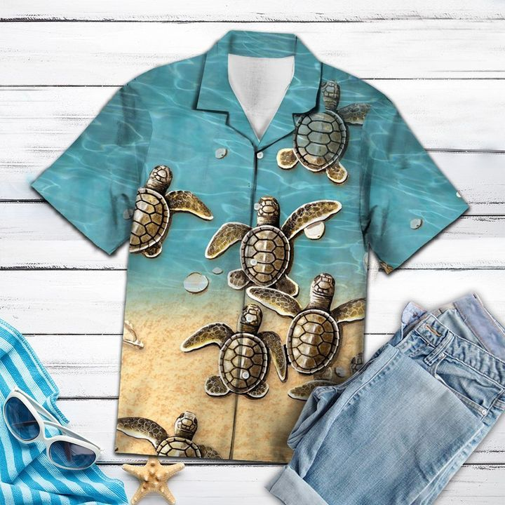 Turtles hawaiian shirt 3