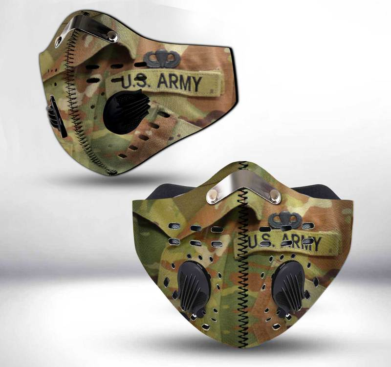 US army paratrooper filter activated carbon face mask 1