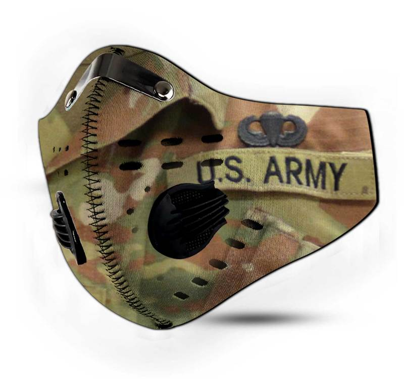US army paratrooper filter activated carbon face mask 4