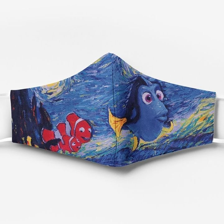 Vincent van gogh starry night dory finding nemo face mask 1